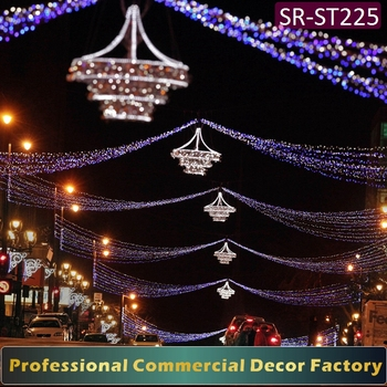Customize Commercial Diwali Holiday Cross Street Led Light Decoration
