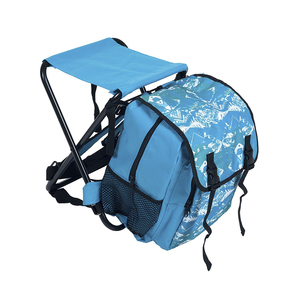 Outdoor Portable Picnic Chair Multifunctional Foldable Cooler bag Chair Backpack Picnic Stool Chair for Picnic