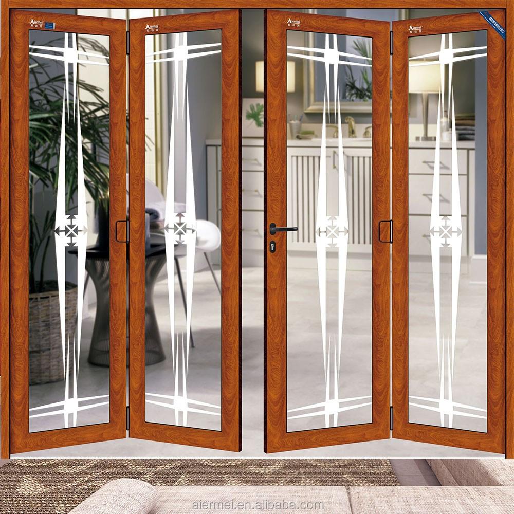 Puertas principales de aluminio puerta de acceso Puertas plegables de aluminio