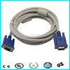 HD15pin male to male monitor lcd vga cable with two ferrites