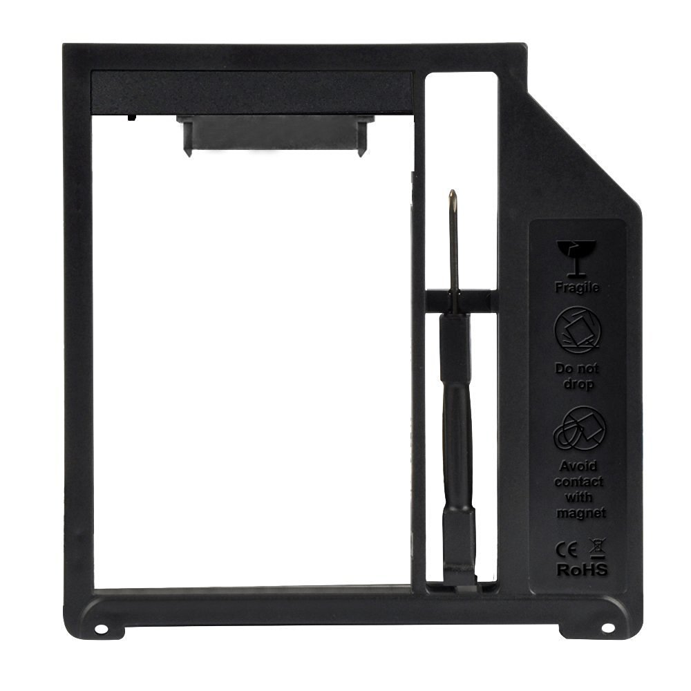"""Deepfox 2nd HDD Caddy 9.5mm SSD Case HDD Enclosure Optibay for Apple Macbook Pro Air 13"""" 15"""" 17"""" SuperDrive"""