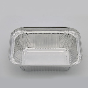 Disposable food tray aluminum foil lunch food box