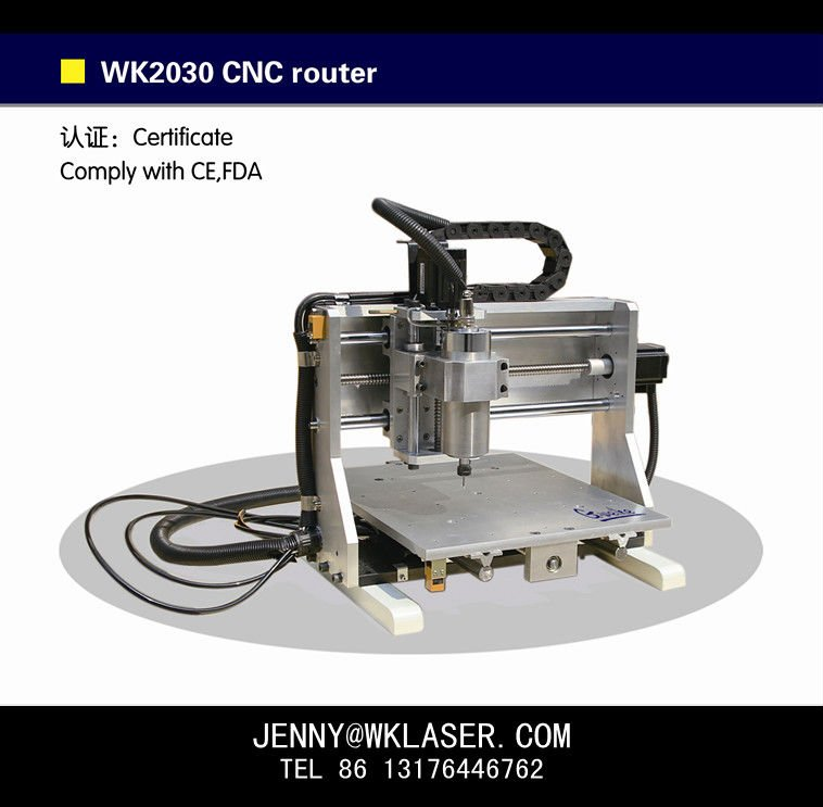 Cheap metal copper aluminum MINI desktop CNC ROUTER WK2030