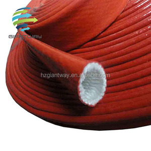 Electrical insulation silicone rubber fiberglass brained Sleeving