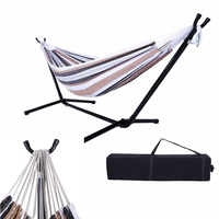 Hammockk with Stand Foldable Double Hammock With Space Saving Steel Hammock Stand Includes Portable Carrying Case