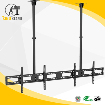 dual side for inches screens head mount flip down ceiling tv lift
