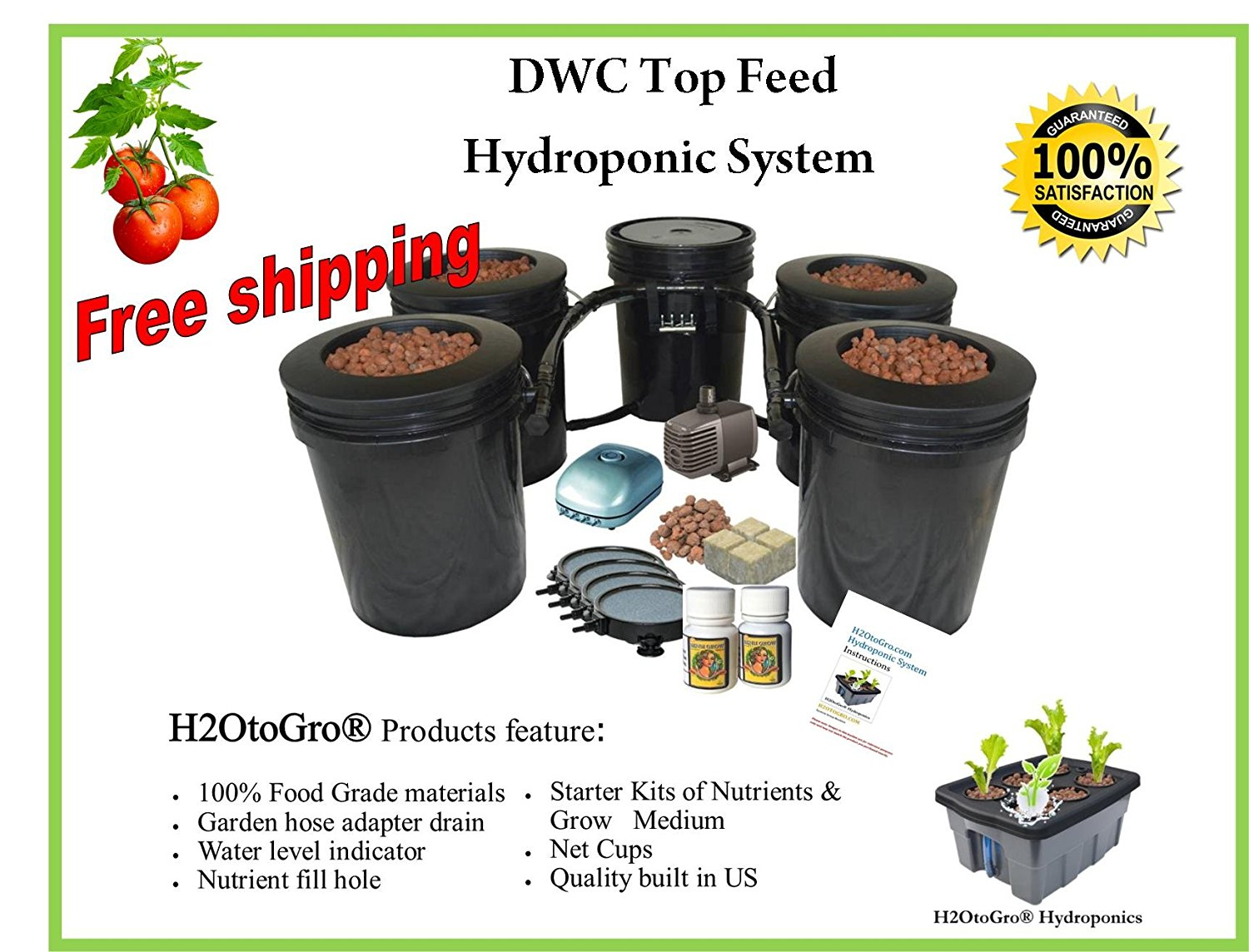 Buy Hydroponic Recirculating Deep Water Culture System with