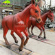 KANOSAUR1711 factory custom made life size fiberglass red horse statue