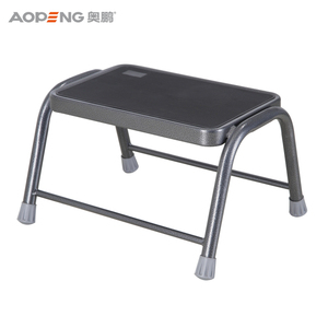 Single step steel stool wooden bench ladder