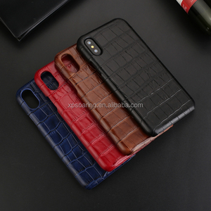 Crocodile design 100% real leather case cover for iPhone X