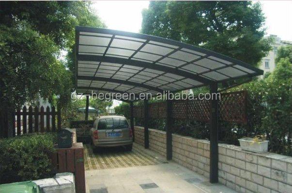Outdoor parking policarbonato carpa garaje para coche for Cubiertas para garajes
