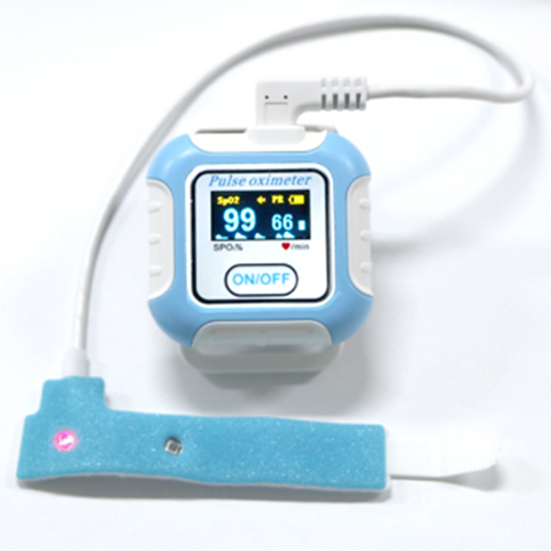 manufactures pulse oximeter finger pulse blood oxygen spo2 monitor w carrying case silicon case & battery