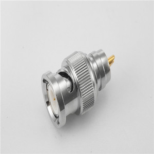 nickel plated BNC male bulkhead mount inter-type rf connector