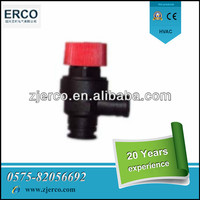 Low cost wall hung boiler plastic safety reducing valve