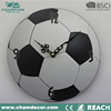 Fashion modern football shape sport silent wall clock , MDF promotion gift diy cut ball wall round clock China