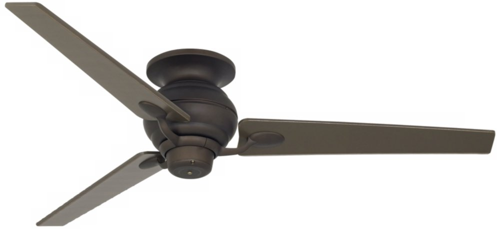 "60"" Spyder Bronze Tapered Blades Hugger Ceiling Fan"