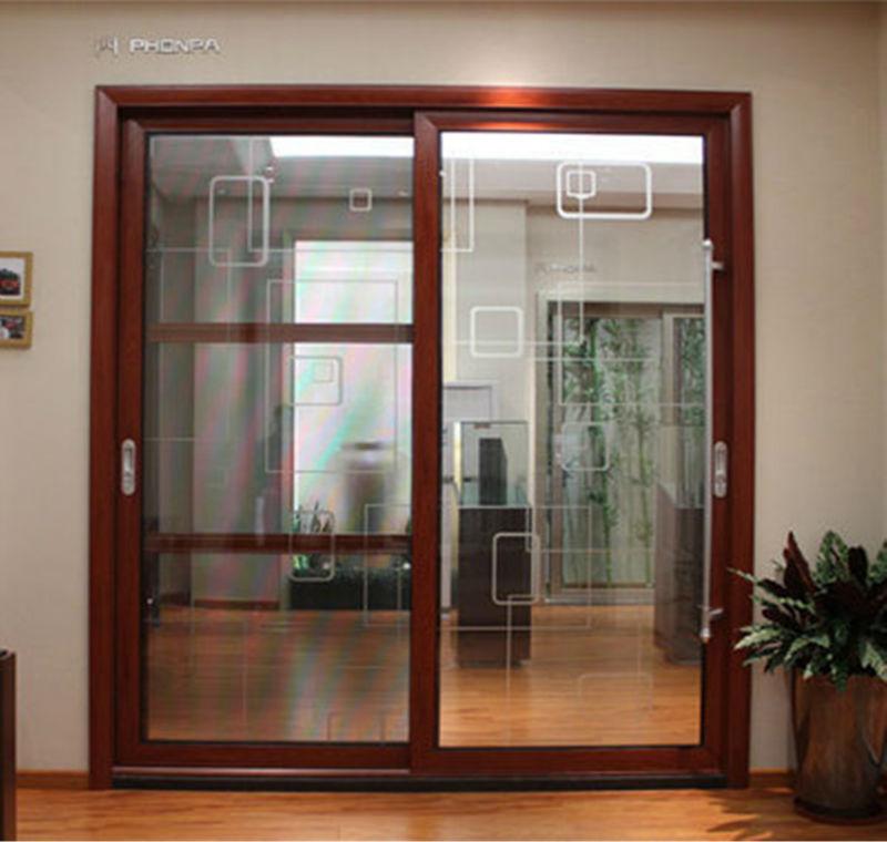 Metal Glass Double Doors interior pivot doors luxury aluminum alloy double door metal glass