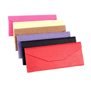 A0311 Superhot Protective Holder for Eyewear PU Leather Triangle Folding Glasses Case