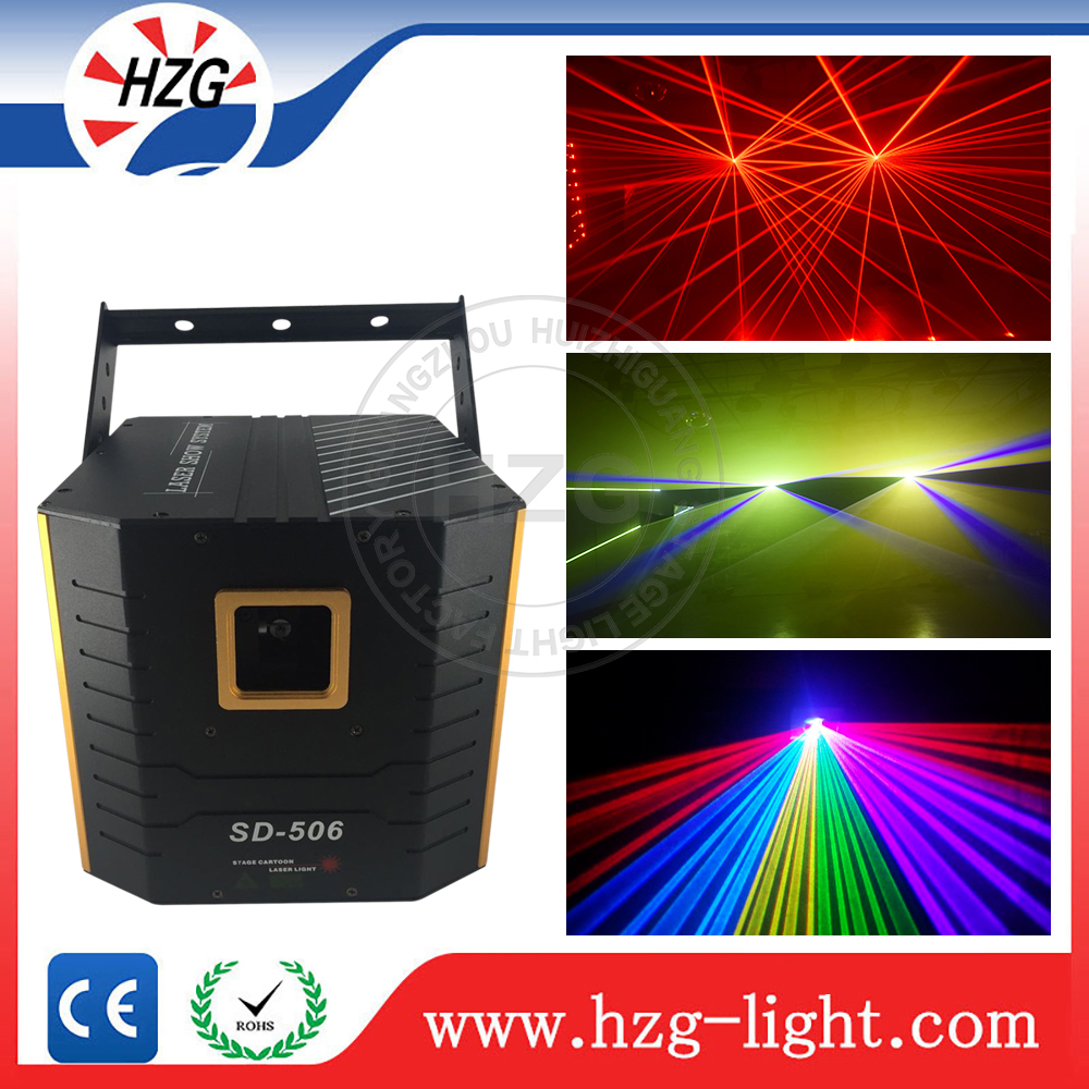 Freeshipping 5W stage laser 5000mw RGB ILDA rgb animation pc controlled laser lighting