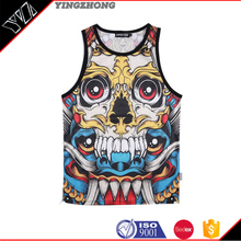 Gold supplier Gym Tank Top/ Custom Printed Stringers vest/ T-Back Singlets