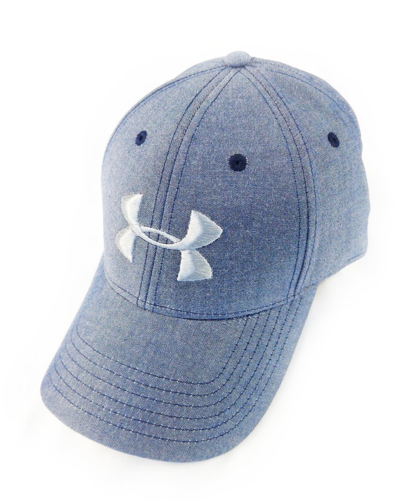 8297b82efe52e Get Quotations · NEW Under Armour Performance Heat Gear Blue Steel  Adjustable Hat Cap