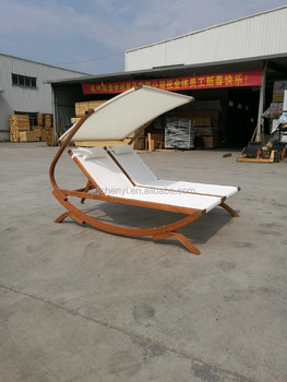 Outdoor Garden Swimming Pool Wooden Beach Sun Chaise Lounger Bed For Odf510
