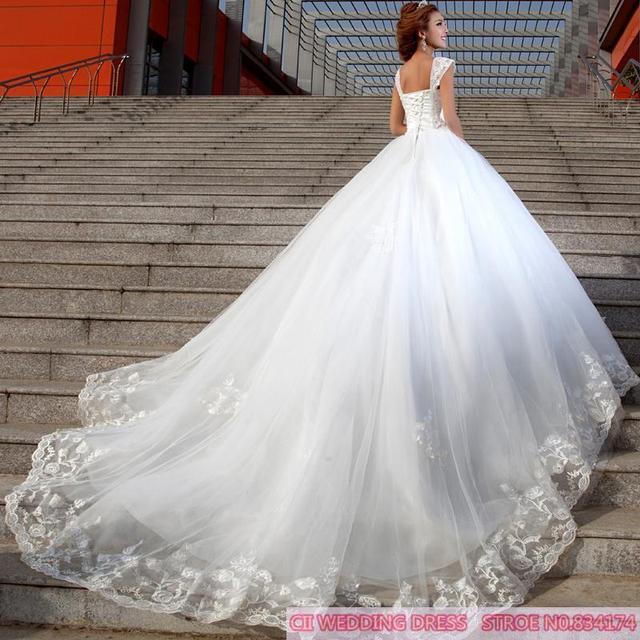 Wedding Gown Bra: Cii Spring Korean Trailing Bridal Diamond Lace Wedding
