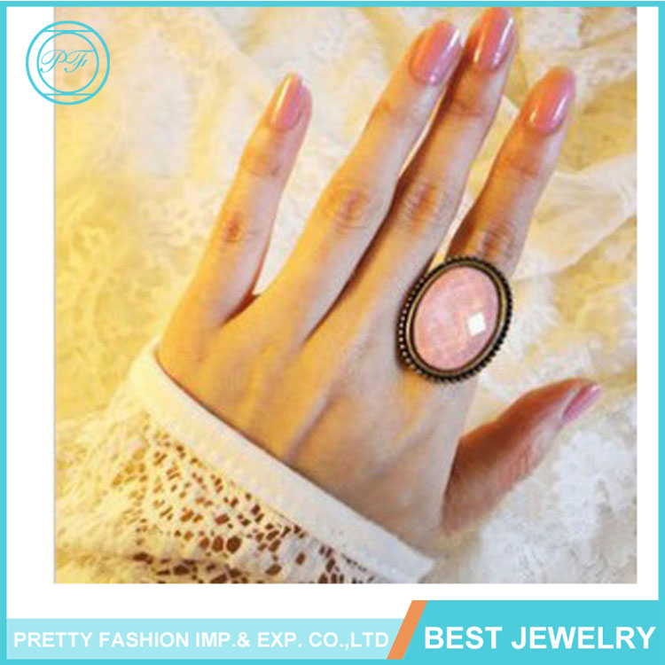 Fashion Geometric Button shape Ring jewelry Boho style index Finger resin Ring for Women