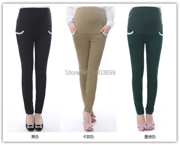 56e077318f8 Get Quotations · Free Shipping 3 colors elastic maternity legging cotton  clothing for pregnant women fashion solid pregnant women