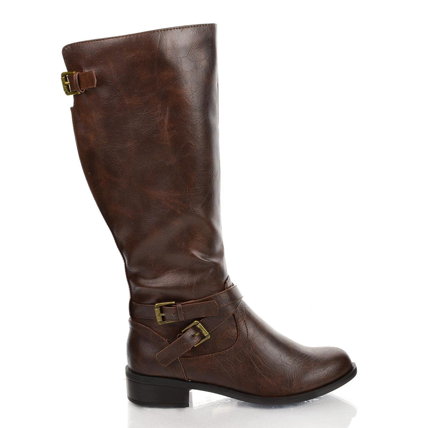 578345b32f46 Hispar Spirit Ladies Women Tall knee high Leather Equestrian Polo Boots.  null. null. Get Quotations · Bio Military Equestrian Biker Riding Boots Tall  Knee ...