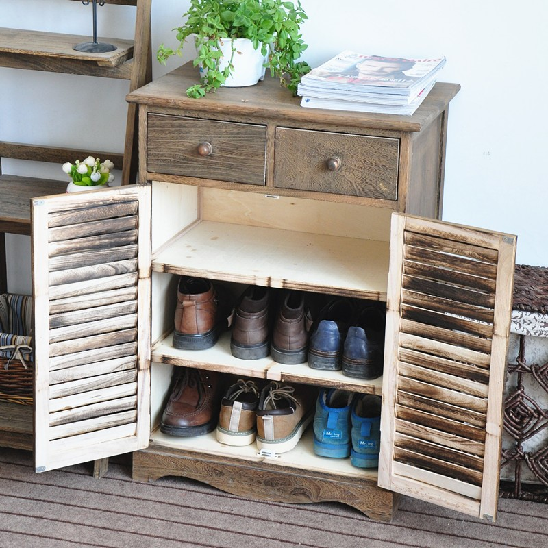 Great Solid Wood Furniture Wooden Shoe Box Or Shoe Cabinet