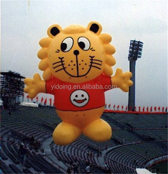 Giant inflatable flying tiger, cute tiger helium balloon for event K7115