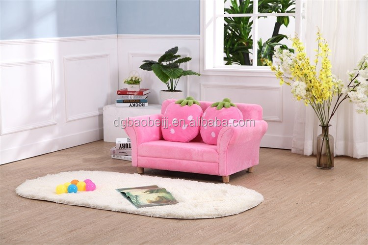 Children/kids Sofa Furniture Living Room Strawberry 2 Seats Sofa ...