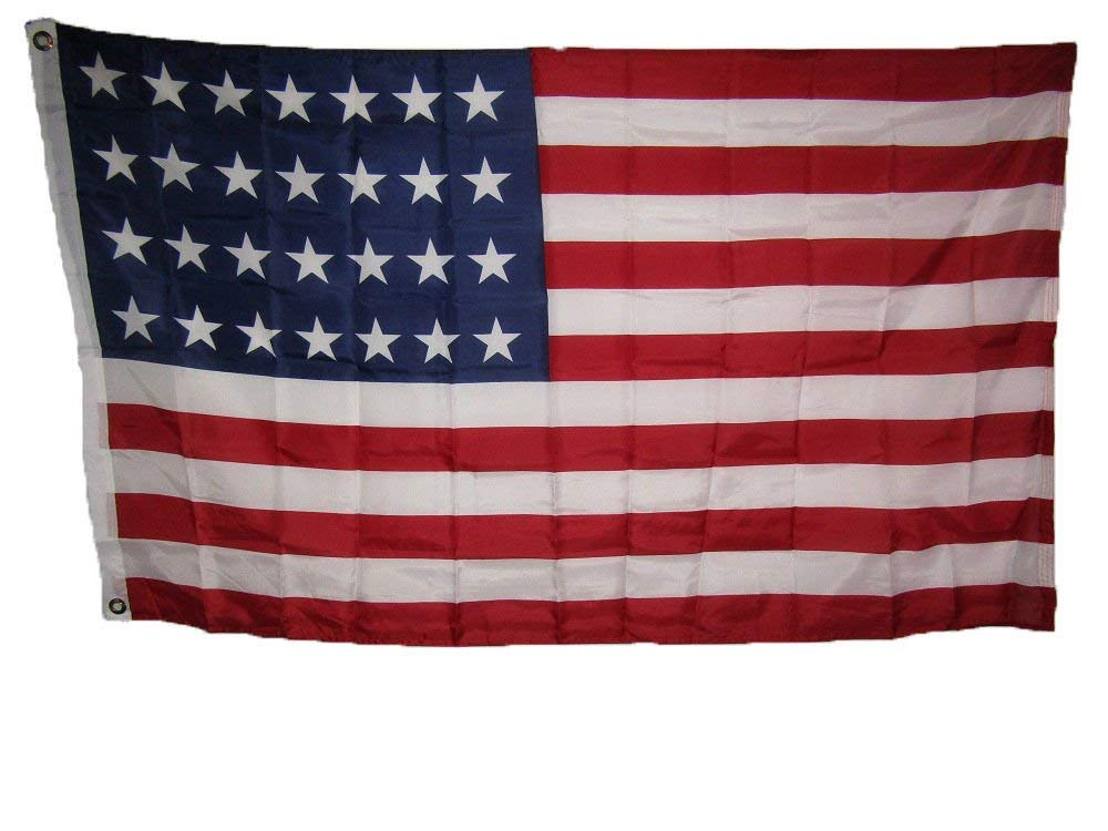 3X5 Usa American 28 Star Linear 1846 1847 Historical Flag 3'X5' Banner Grommets