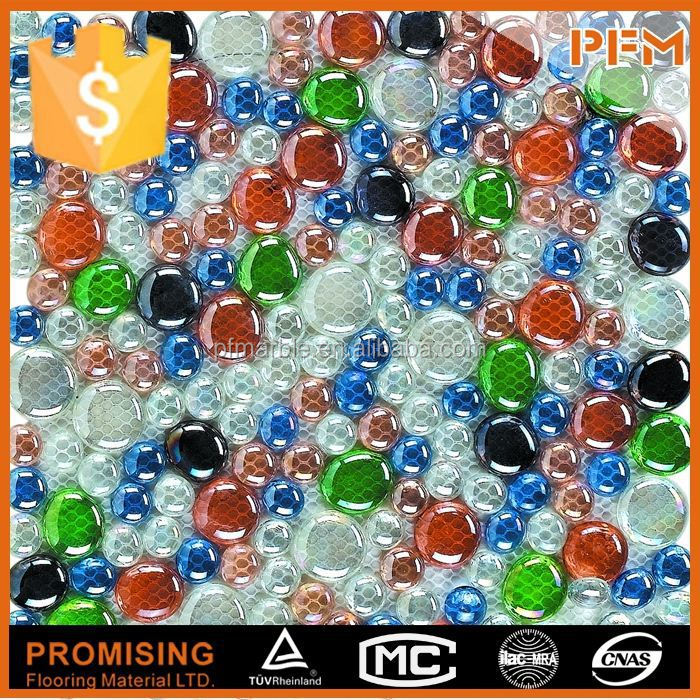 well polished natural wholesale colorful glass bead mosaic
