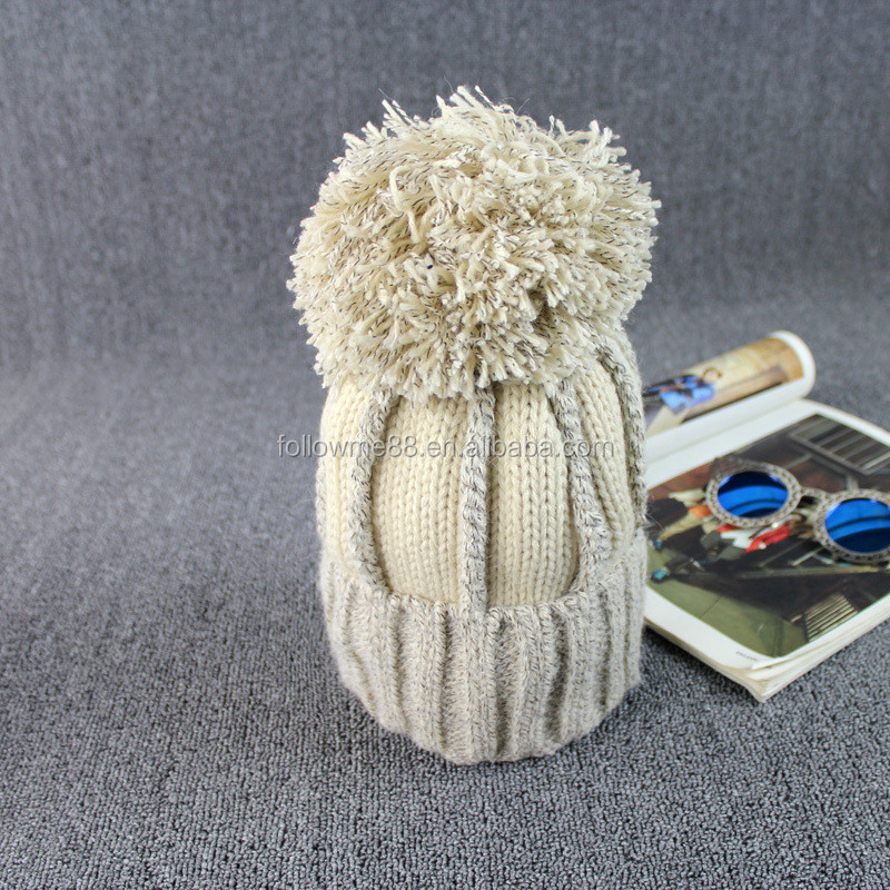 b336f0a294e0d 2019 New Winter Fashion Custom Knit Cap With Balls For Women And Men ...