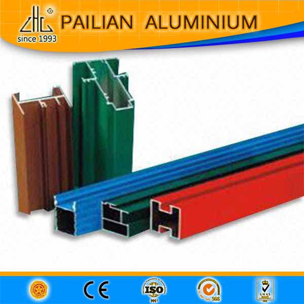 Quality aluminuim 6063 alloy powder coating aluminium profiles powder coating tube or pipe square/round/oval extrusion profiles