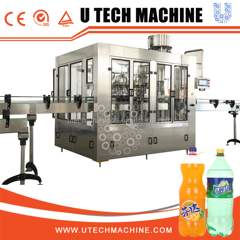 Carbonated Aerated Water Filling Machine, Soft Drink Bottling Plant