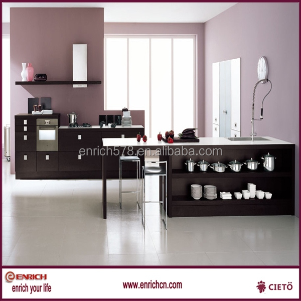 Color Off white kitchen cabinet with soft closing
