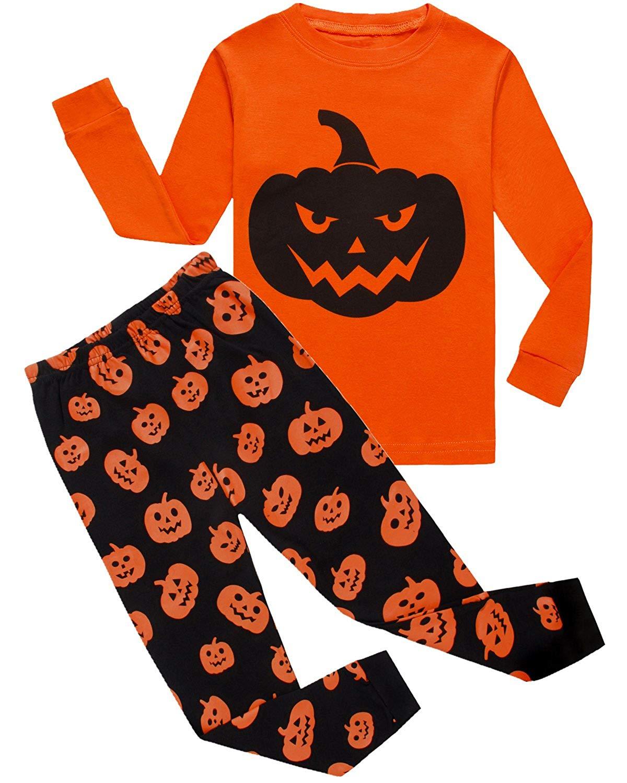 Dolphin&Fish Boys Halloween Pajamas Spider Glow-in-The-Dark Toddler Sleepwear Kids Pjs