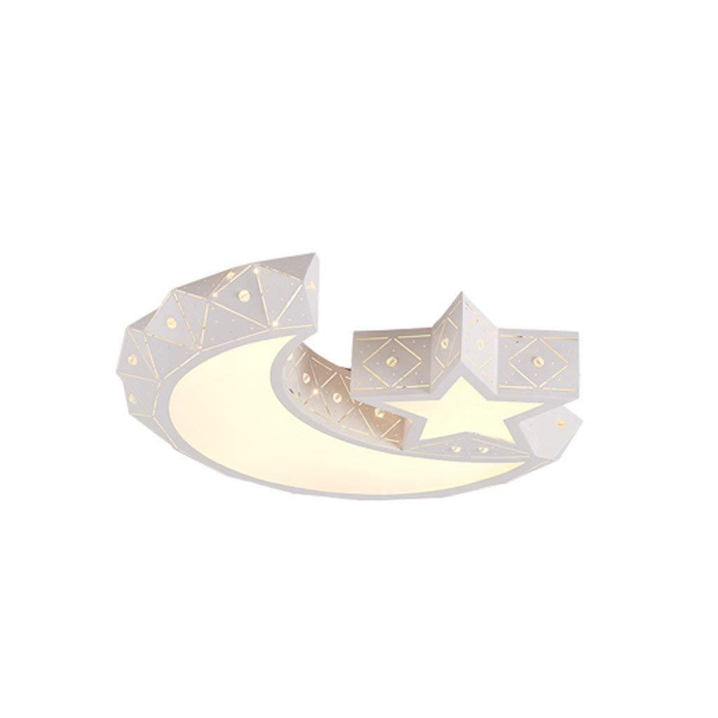 Fu Man Li Trading Company Children lights LED ceiling lamps modern simple eye care children cute boys girl moon bedroom room lights A+ ( Size : 60CM70W )