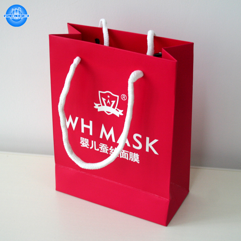 Custom color beautiful small paper gift bags
