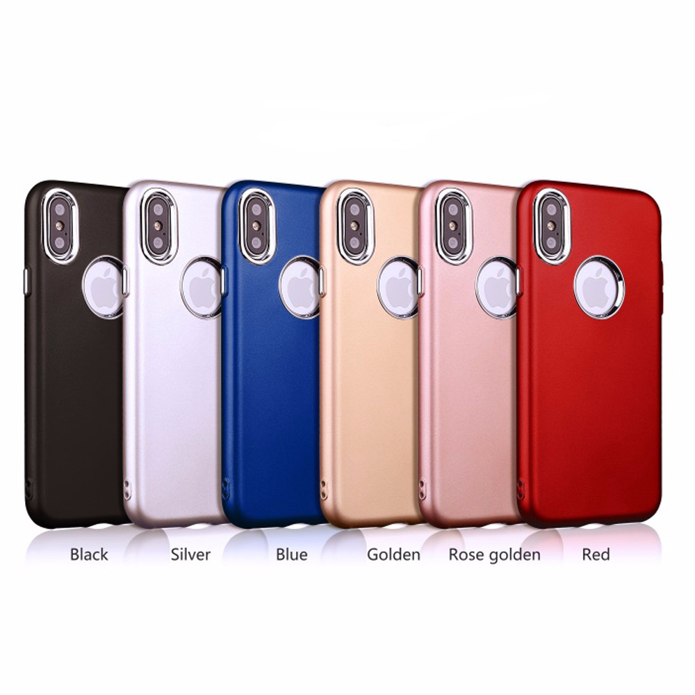 New Products Metal Button Paint TPU Case for iPhone X, for iPhone X Soft Cover Case