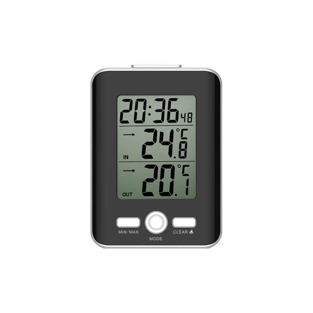 Cheap Wired Temperature Sensor Find Deals Digital Indoor And Outdoor Thermometers Thermometer Clock With Snooze Alarm