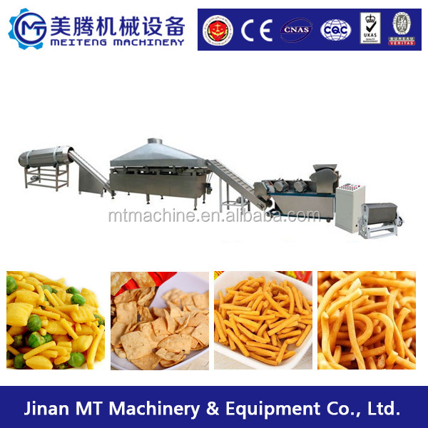 Extruded Fried snack food machine 3D Flour Bugles Chips Making machine
