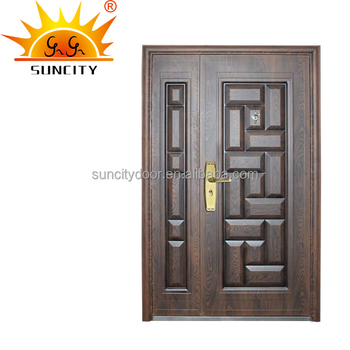 South Indian Simple Main Front Double Door Designs