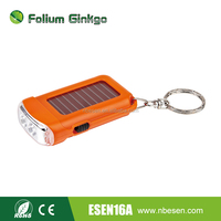 Mini Solar Power Rechargeable 2 LED Flashlight
