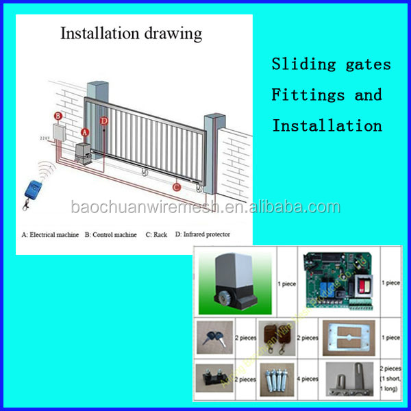 High security and balance well galvanized steel gates grill design