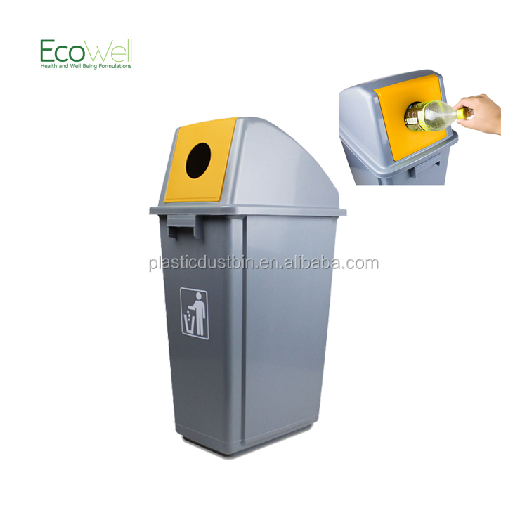 60Litre Plastic Fashion Malaysia Trash Bin Recycling For Bottle