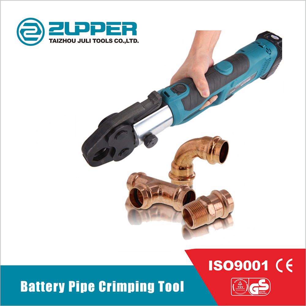 Press for metal-plastic pipes. Press-pliers for crimping plastic pipes